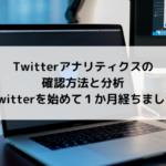 Twitterアナリティクスの確認方法と分析~Twitterを始めて1か月経ちました~